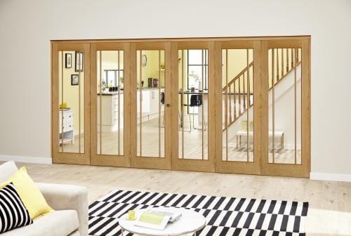 Worcester Oak Prefinished Roomfold Deluxe (3 + 3 x 686mm doors)