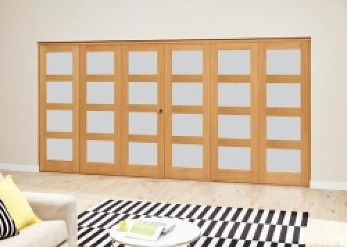 Frosted Pre finished 4L Roomfold Deluxe (3 + 3 x 686mm doors)