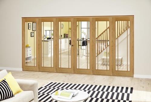 Worcester Oak Prefinished Roomfold Deluxe (3 + 3 x 610mm doors)