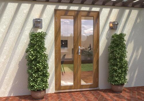1200mm Solid Oak French Door Set Image