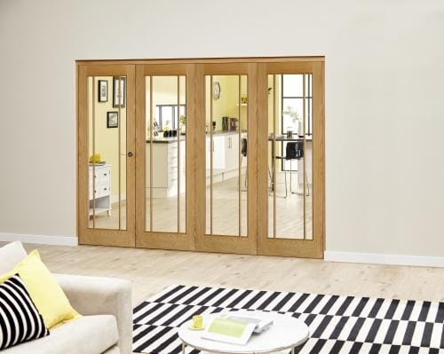 Worcester Oak Prefinished Roomfold Deluxe (4 x 762mm doors)