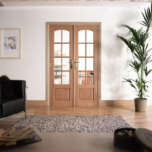 W4 Hardwood Interior French Door