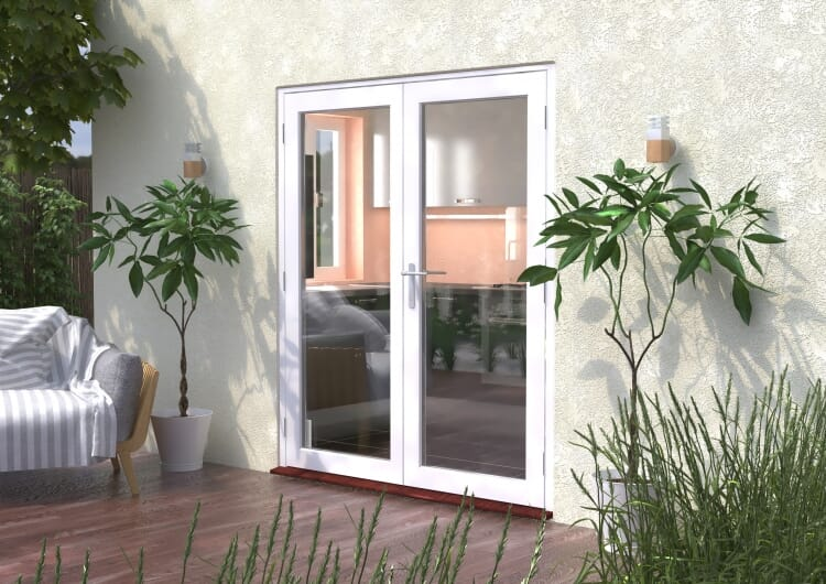 1800mm (6ft) Classic White French Doors - Climadoor Image