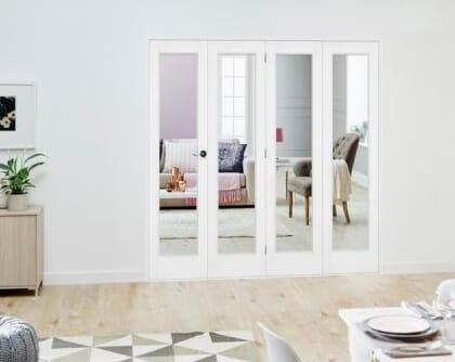 Slimline White P10 Roomfold Deluxe ( 4 x 381mm doors )