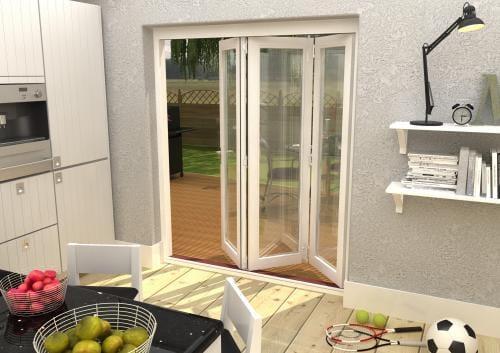 Climadoor Classic White Folding door 1800mm Image