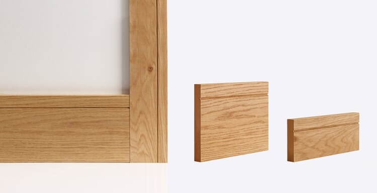 Shaker Architrave 80mm x 16mm (set covers both sides of the door)