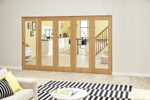 Prefinished P10 Oak Roomfold Deluxe (5 x 686mm doors)