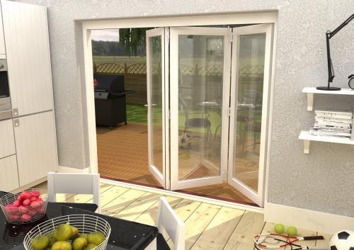 Climadoor Classic White Folding door 2400mm Image