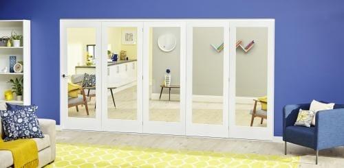 White P10 Roomfold Deluxe ( 5 x 610mm doors )