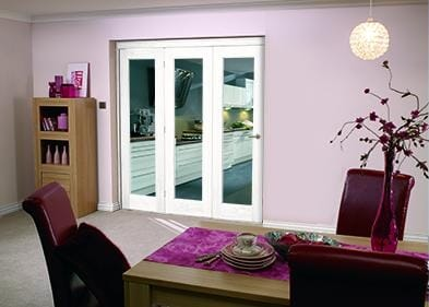 """White Bifold 3 door system ( 3 x 21"""" Doors )"""