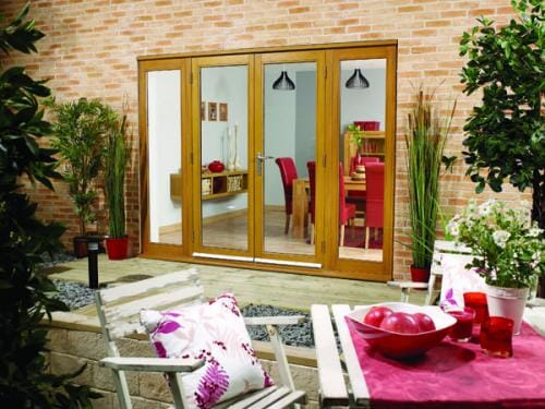 NUVU OAK 2400mm (8ft) French Doors with sidelights