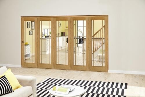 Worcester Oak Prefinished Roomfold Deluxe (5 x 762mm doors)