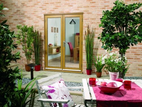 NUVU OAK 1500mm (5ft) French Doors