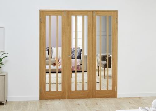 Lincoln Oak Folding Room Divider ( 3 x 533mm Doors)