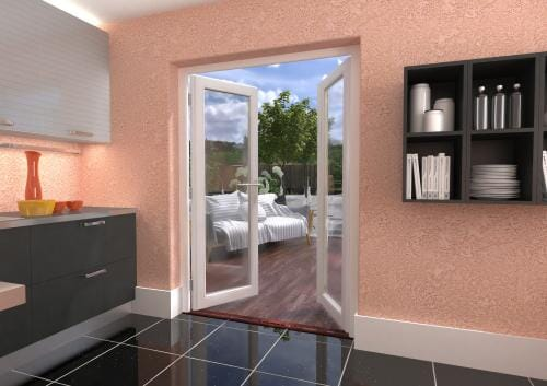 1500mm (5ft) Classic White French Doors Image
