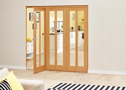 Aston Oak - 3 door Roomfold Deluxe (3 x 610mm doors )