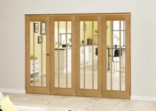 Lincoln Oak Roomfold Deluxe ( 4 x 533mm doors)