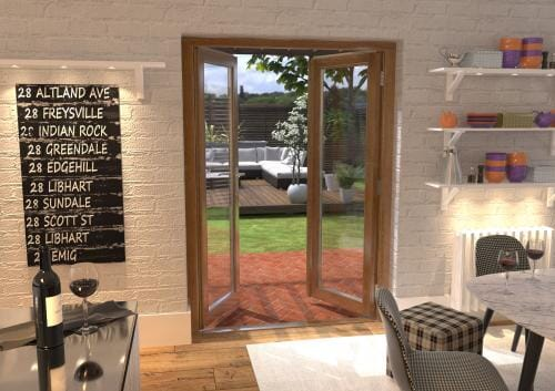 1500mm Solid Oak French Door Set Image