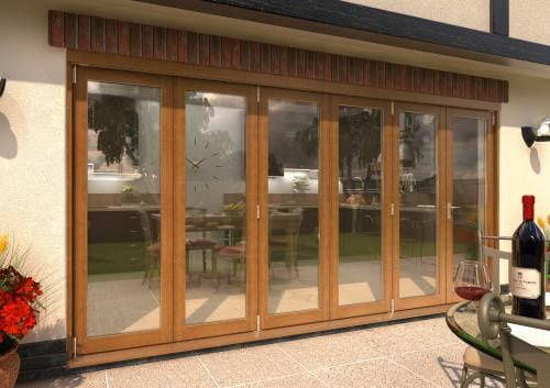 ClimaDoor 4200mm (14ft) Solid OAK sliding folding door Image