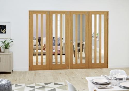 Aston Oak Folding Room Divider ( 4 x 686mm doors)