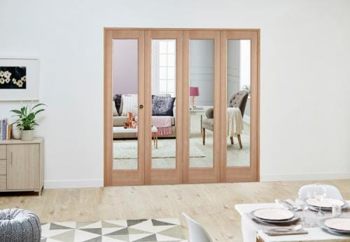 Slimline Oak P10 Roomfold Deluxe ( 4 x 381mm Doors)