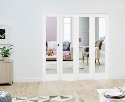 Slimline White P10 Roomfold Deluxe ( 4 x 419mm doors )