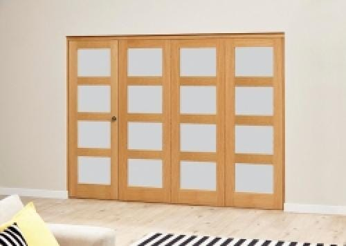 Frosted Pre finished 4L Roomfold Deluxe (4 x 533mm doors)