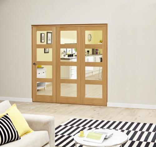 Oak Prefinished 4L Roomfold Deluxe ( 3 x 610mm doors)