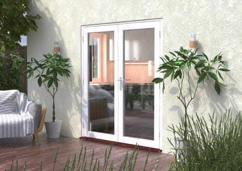 1800mm (6ft) Classic White French Doors Image