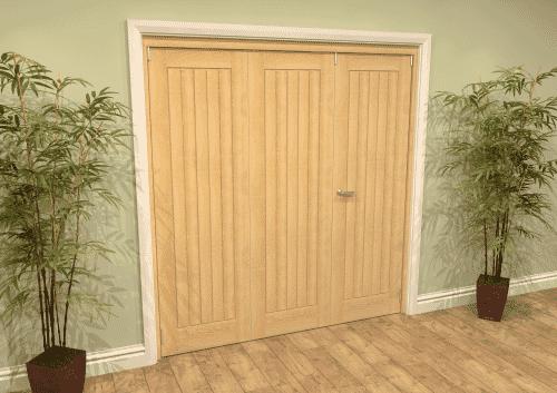Mexicano Oak Folding Room Divider ( 3 x 686mm Doors)