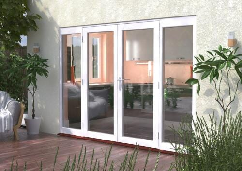 3000mm (10ft) Classic French Doors - 1800 Pair + 2 x 600mm Sidelights Image
