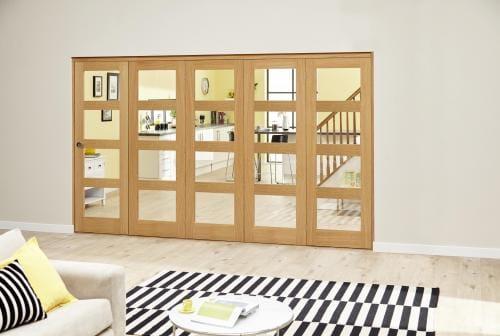 Oak Prefinished 4L Roomfold Deluxe ( 5 x 610mm doors)