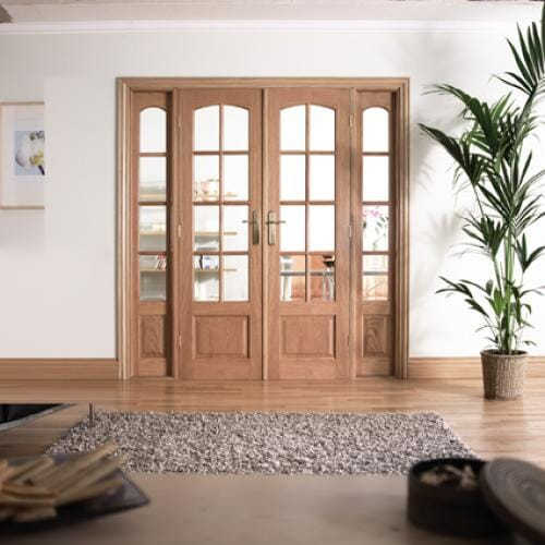 W6 Hardwood Interior French Door