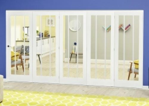 Lincoln White Roomfold Deluxe ( 5 x 610mm doors)