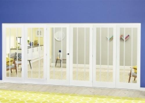 Lincoln White Roomfold Deluxe ( 3 + 3 x 610mm doors)