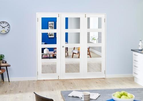 White 4L Folding Room Divider ( 3 x 610mm doors)