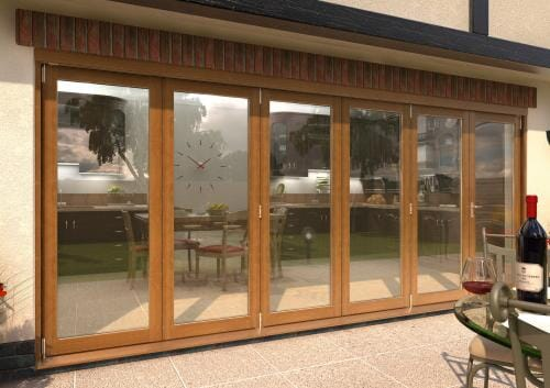 ClimaDoor 4800mm (16ft) Solid OAK sliding folding door Image