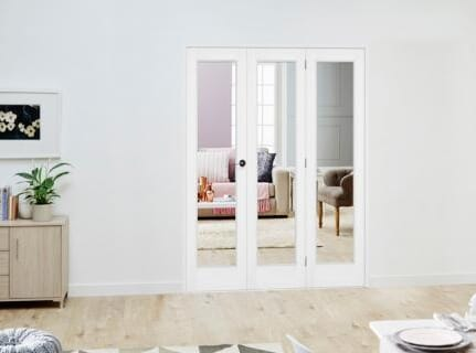 Slimline White P10 Roomfold Deluxe ( 3 x 419mm doors )