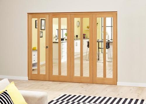 Aston Oak - 5 door Roomfold Deluxe (5 x 610mm doors)