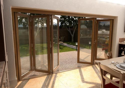 ClimaDoor 4200mm (14ft) Solid OAK Sliding folding Door Image