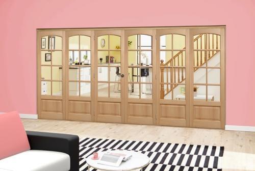 Worthing Oak Roomfold Deluxe (3 + 3 x 686mm doors)