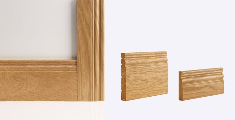 Georgian Architrave 90mm X 16mm (set Covers Both Sides Of The Door) Image