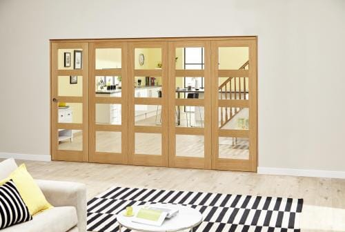 Oak Prefinished 4L Roomfold Deluxe ( 5 x 686mm doors)