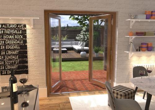 1800mm Solid Oak French Door Set Image