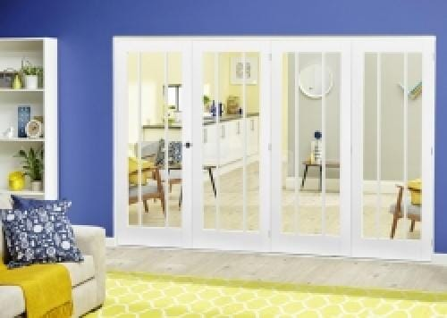 Lincoln White Roomfold Deluxe ( 4 x 686mm doors)