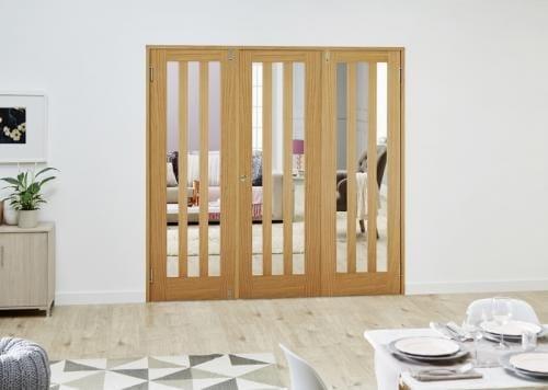 Aston Oak Folding Room Divider ( 3 x 686mm doors)