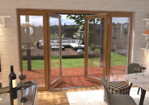 3000mm Solid Oak French Door Set Image