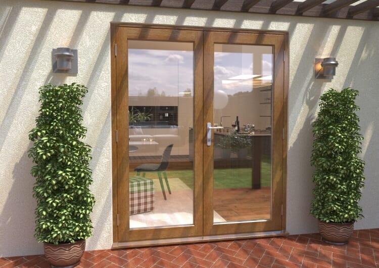 Climadoor Solid Oak French Doors 1800mm Image