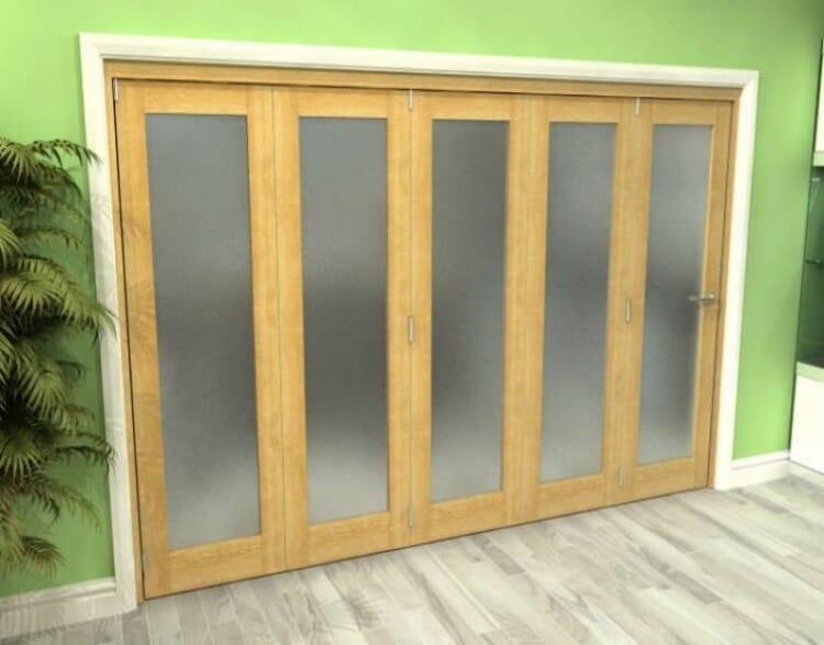 Frosted Glazed Oak 5 Door Roomfold Grande (5 + 0 X 762mm Doors) Image