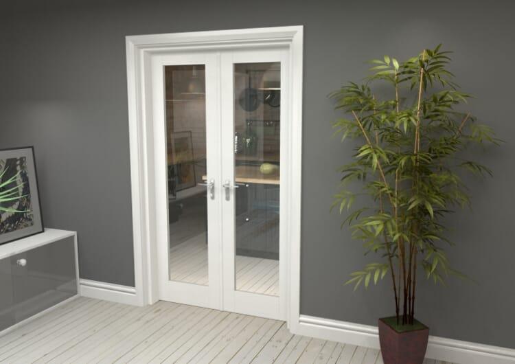 "P10 White French Door Set  - 21"" Pair Image"